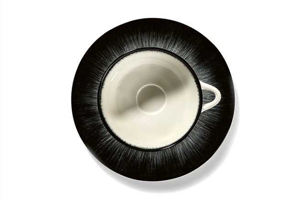 DÉ PLATE D17,5 CM  OFF-WHITE/BLACK VAR 5