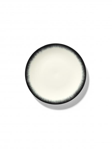 DÉ PLATE D17,5 CM  OFF-WHITE/BLACK VAR 3