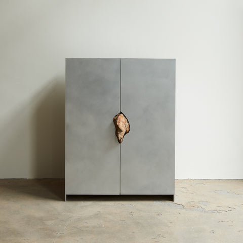 Cabinet with Stone (petrified winter oak)