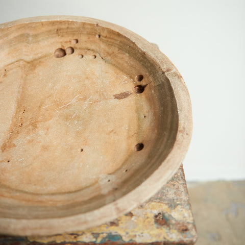 Marble Indian Plate with Handle