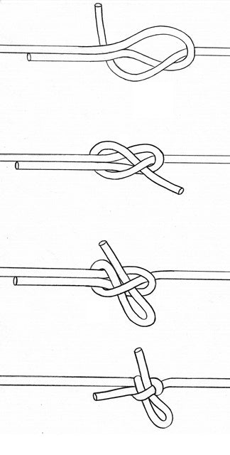 Sheet Bend Knot line drawing