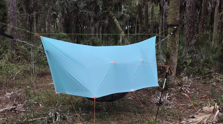 11ft 1.1oz Silpoly Tarp with Doors - R&R Hammocks LLC