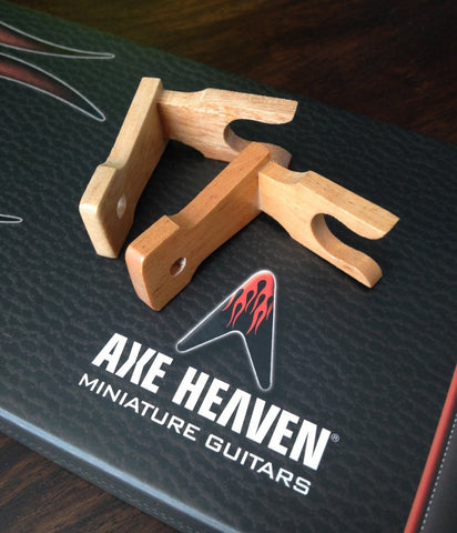 Axe Heaven Miniature Guitar Wall Hanger (Set of 2)