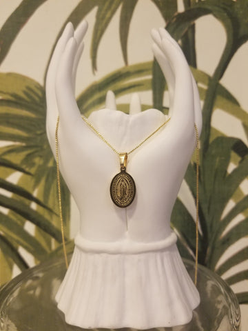 Our Lady of Guadalupe Oval Necklace