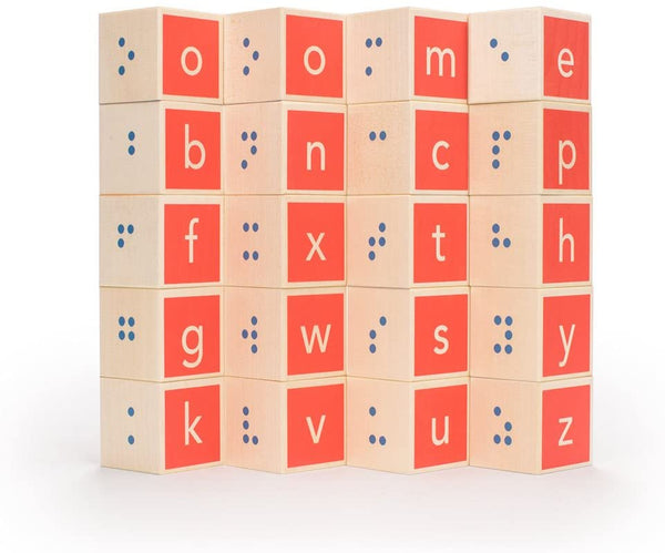 Uncle Goose Braille Alphabet Blocks
