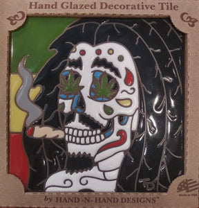 Bob Marley Day of the Dead Tile
