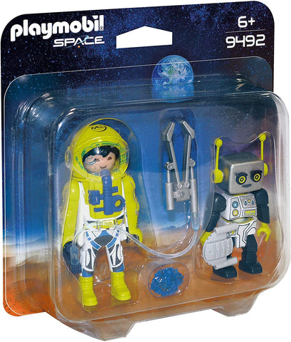 Playmobil Astronaut and Robot Duo