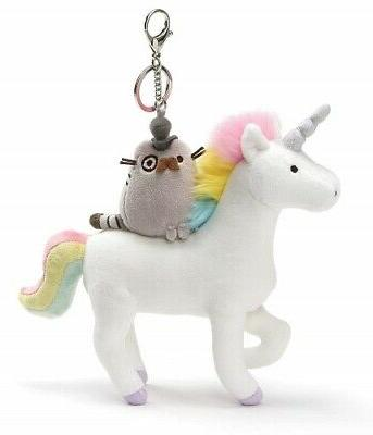 Fancy Pusheen On A Unicorn Keychain Plush