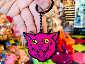 Toy Joy Pink Cat Keyring