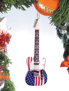 USA Electric Guitar Ornament
