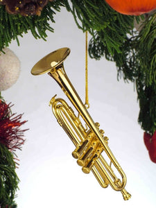 Trumpet Ornament in Gold