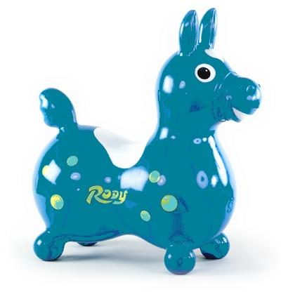 Teal Rody Riding Horse