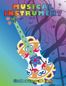 Musical Instrument Coloring Book