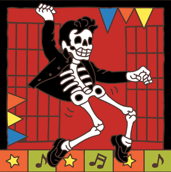 Elvis Day of the Dead Tile