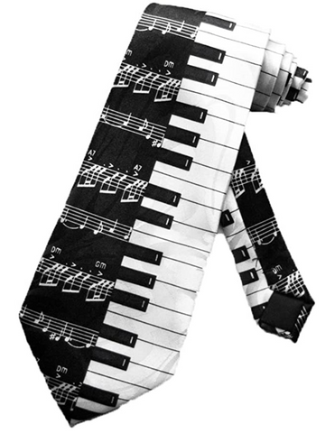 Sheet Music with Piano Keys Tie