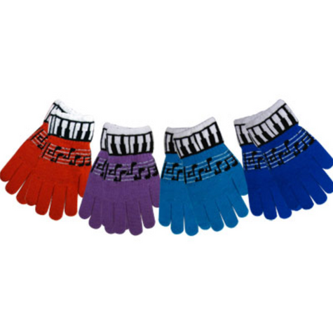 Piano Key Knit Gloves - Assorted