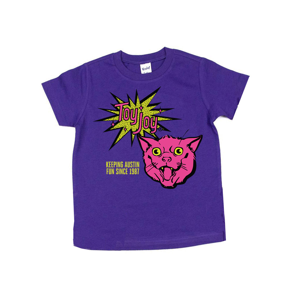 Toy Joy 80's Cat Unisex Kids Tee