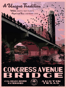 Vintage Congress Bridge Poster