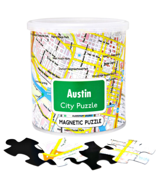 Austin Map Magetic Puzzle - 100pc