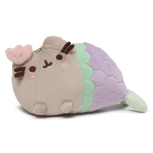 Pusheen Mermaid With Clam Bow Plush