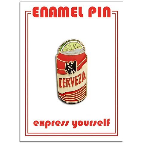 Cerveza with Lime Wedge Lapel Pin