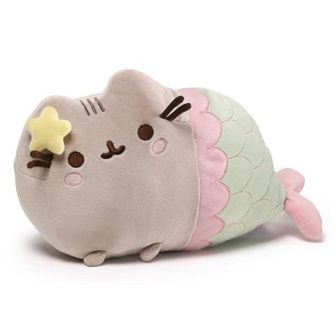 Pusheen Mermaid With Star Bow Plush