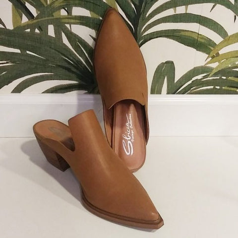Tan Leather Mule