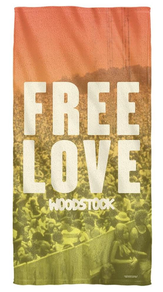 Woodstock Free Love Beach Towel