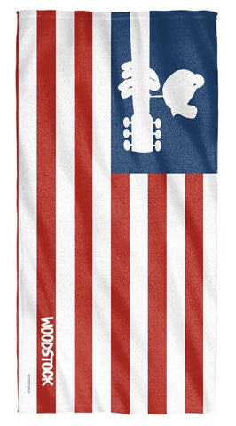 Woodstock USA Flag Beach Towel