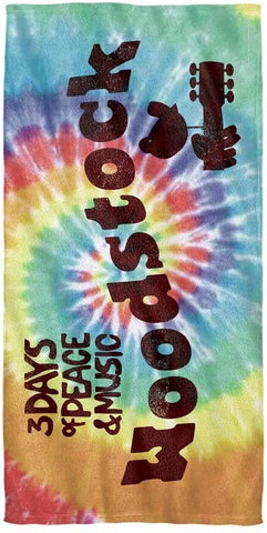 Woodstock Tie-Dye Beach Towel