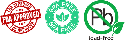 FDA Approved, BPA free and Pb(Lead) free!