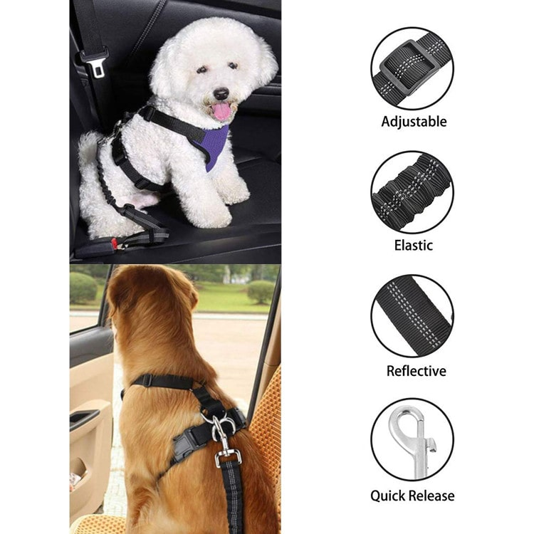 Top Rated Dog Seat Belt Safety Restraint For Cars Vehicles Protection