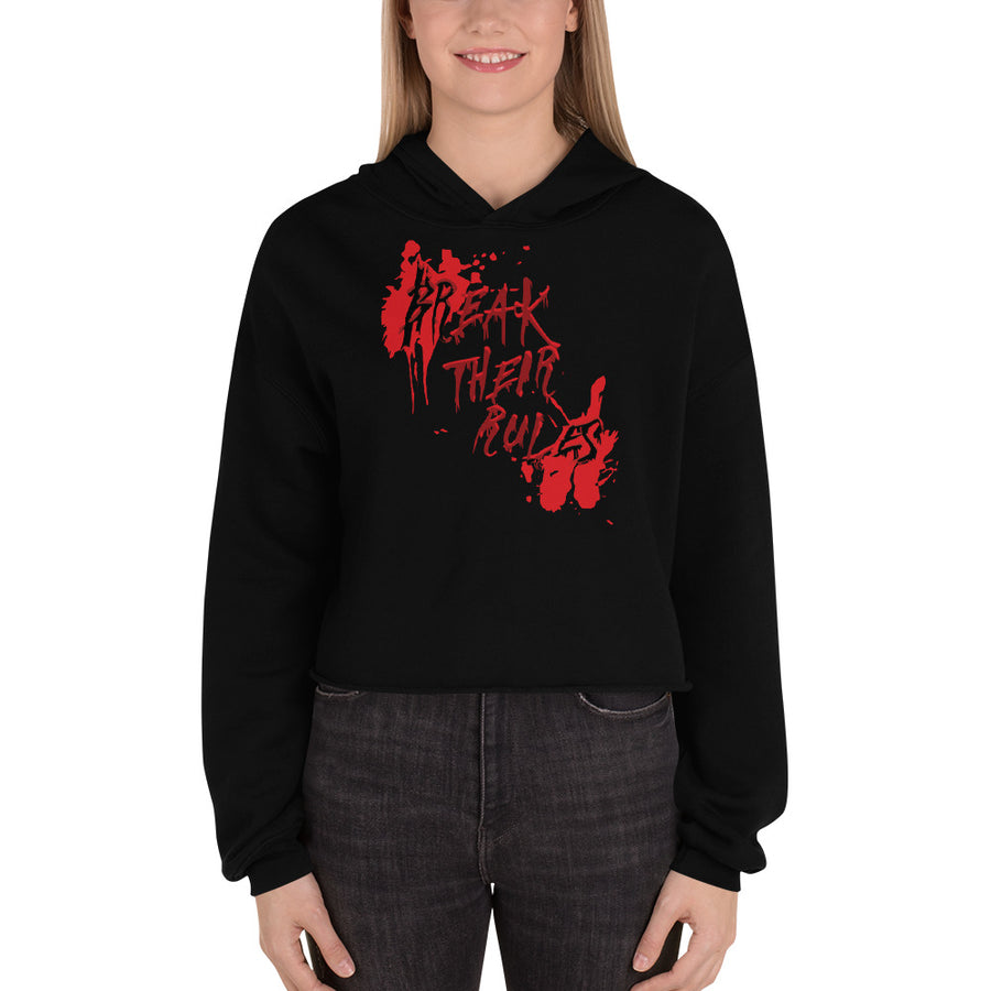 Women's War Paint Crop Hoodie