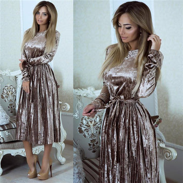 Long Sleeve Midi Party Dress