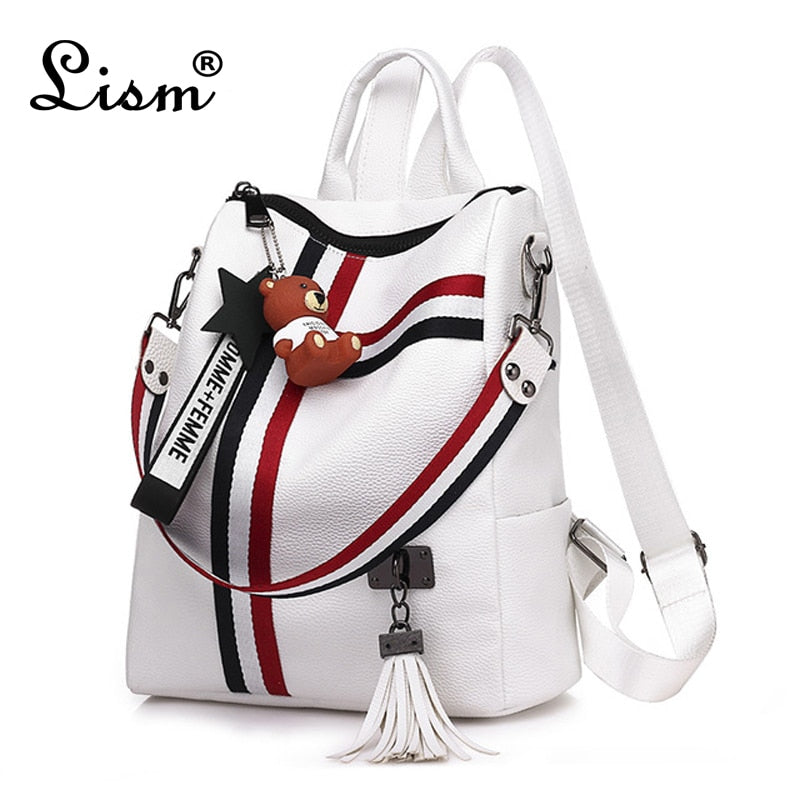 Leather High quality Shoulder Backpack