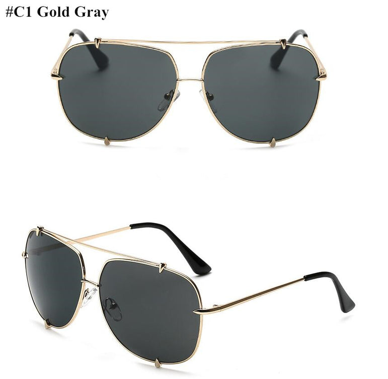 Retro Oversized Pilot Sunglasses Women