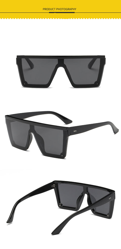 Big Frame Square Flat sunglasses