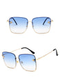 Small Bee Rimless Square Sunglasses