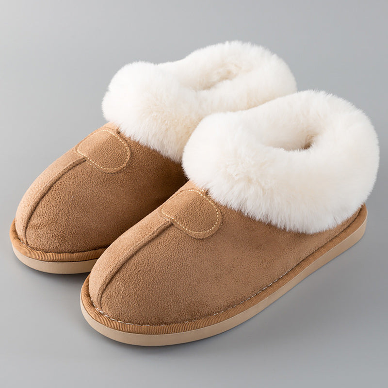 Fur Slides Sewing Winter Slippers