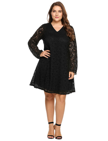 Casual Party Oversized Lace Dress