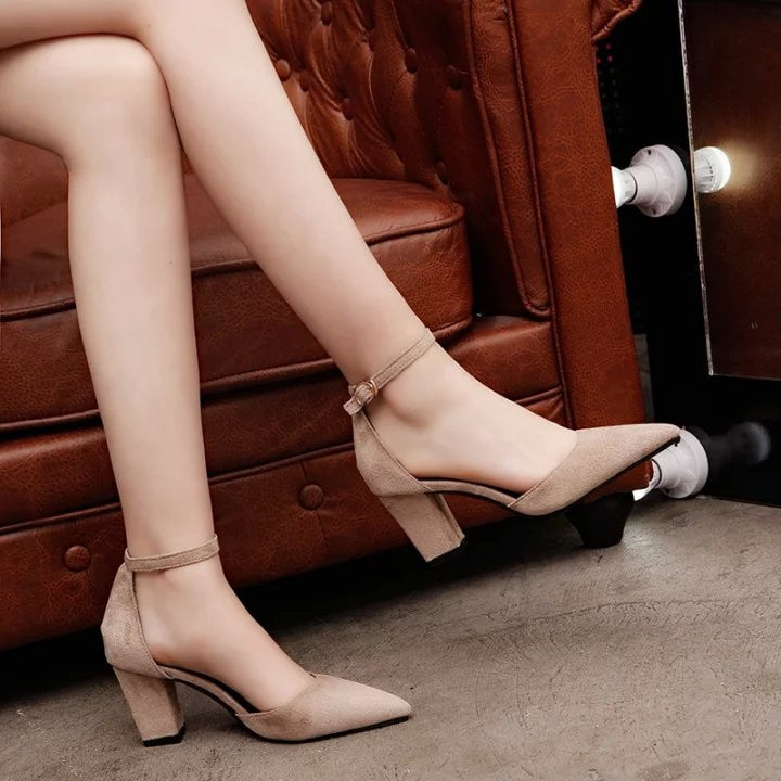Thick  Comfortable Pump Low Heels