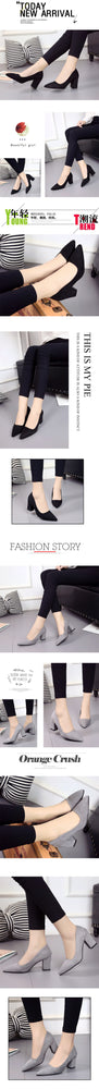 Europe Trend Fashion Shallow Mouth High Heel