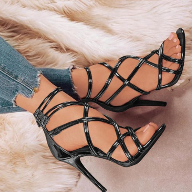 Thin High Heel Ankle Strap Sandal