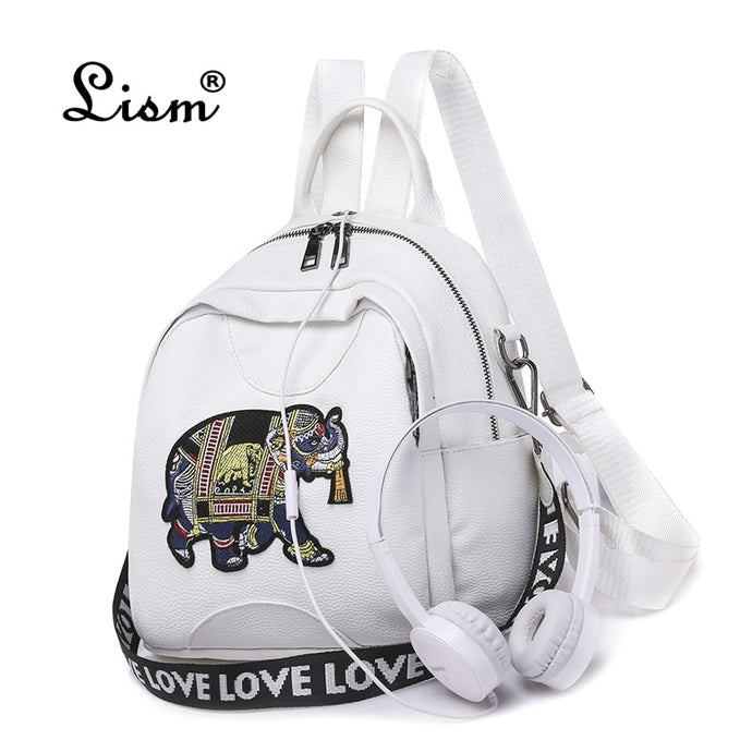 Leather Elephant High quality Shoulder Backpack