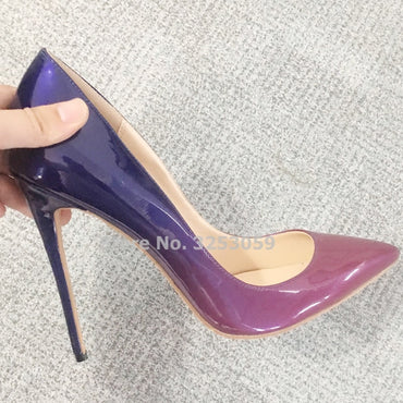 Leather Thin High Heel Pump Shoes