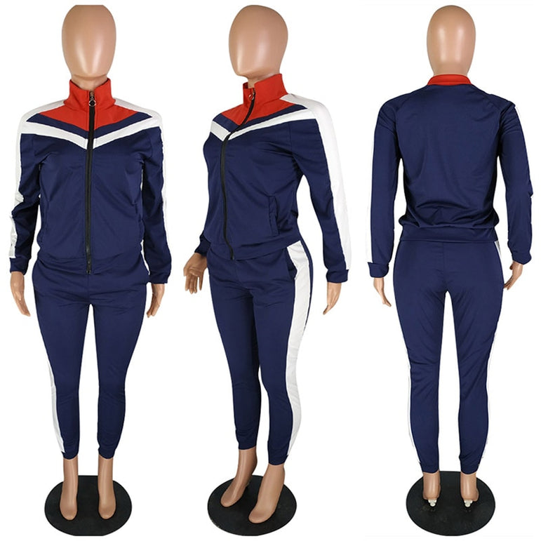 Casual Long Sleeve Gym Tracksuit Yoga Set
