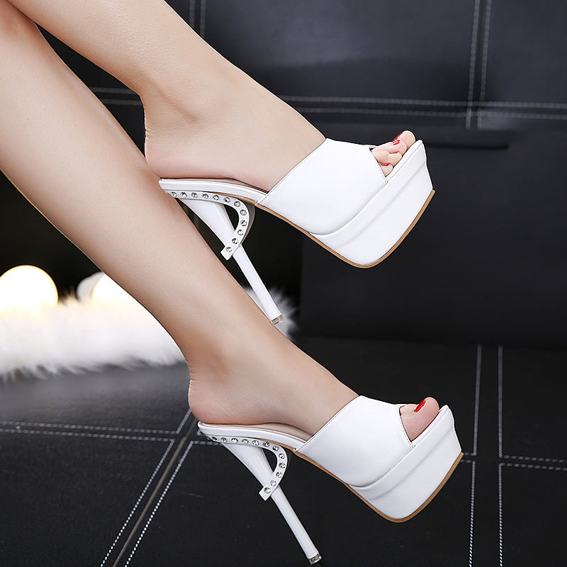 Sexy Nightclub Diamond Open Toe Sandal