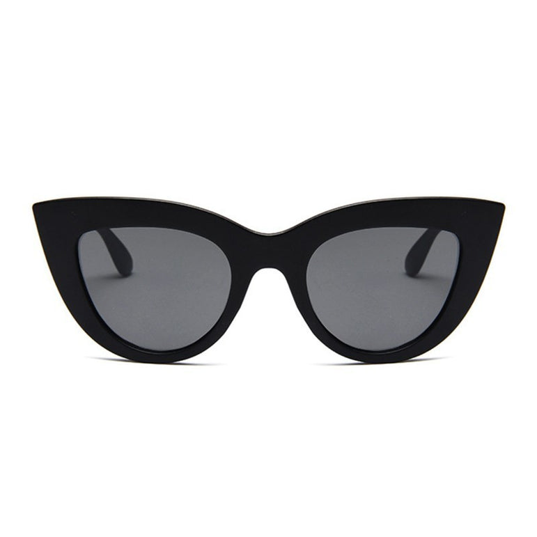 Retro Cat Eye Black Sun Glasses Female