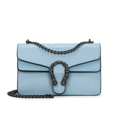 Leather Chain Shoulder Snake Fashion Handbag