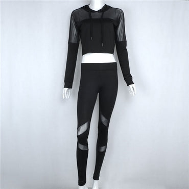 Long Sleeve Yoga Set Tracksuit